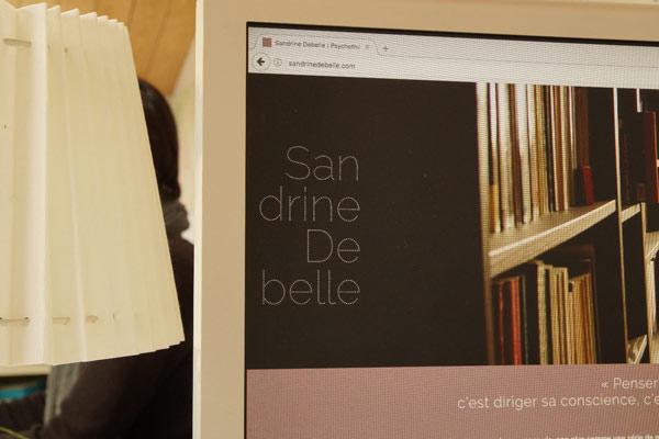 identité graphique de Sandrine Debelle vue sur son site internet