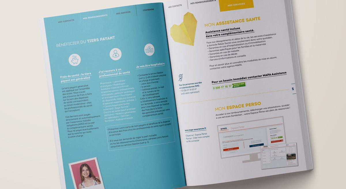 Refonte graphique du guide Santé de la MAPA